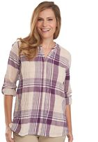 Woolrich Women's Spring Fever Plaid Roll-Tab Shirt