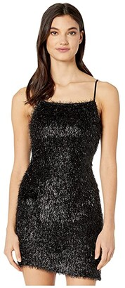 BCBGeneration Fuzzy Mini Dress (Black) Women's Clothing
