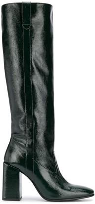AMI Paris Block-Heel Knee-High Boots