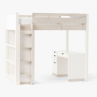 Pottery Barn Teen Rhys Loft Bed with Desk Set