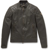 Belstaff Outlaw Waxed Cotton-Blend Blouson Jacket