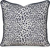 Miles Talbott Collection Leopard Path 20x20 Pillow, Navy