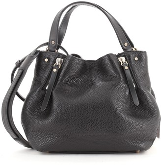 Burberry Maidstone Tote Leather with House Check Canvas Small