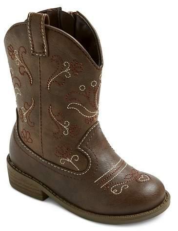 Cat & Jack Toddler Girls' Chloe Classic Cowboy Western Boots