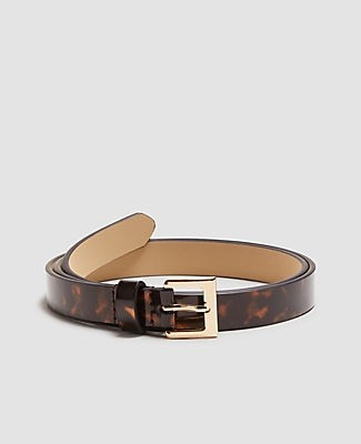 Ann Taylor Patent Tortoiseshell Print Trouser Belt
