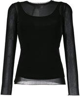 Max Mara layered top - women - Viscose/Spandex/Elastane/Polyamide - 38