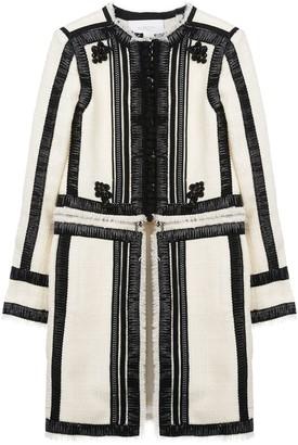 Giambattista Valli contrasting ribbon trim coat