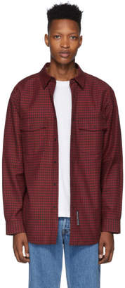 Alexander Wang Red and Black Plaid Western Shirt