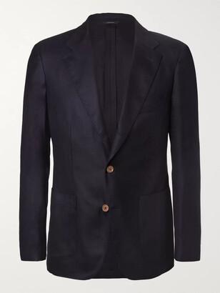 Loro Piana Navy Voyager Slim-Fit Cashmere Blazer - Men - Blue