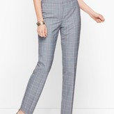 Talbots Springtime Plaid Straight Leg Pants