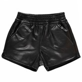 Finger In The Nose Holiday Lamb Leather Shorts