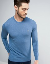 Jack Wills Seabourne Crew Neck Jumper In Pale Blue