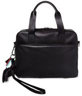 Steve Madden Men's Gq X Leather Computer Bag - Black