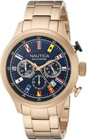 Nautica Men's NAD21507G NCT 16 FLAGS Analog Display Quartz Rose-Gold Watch