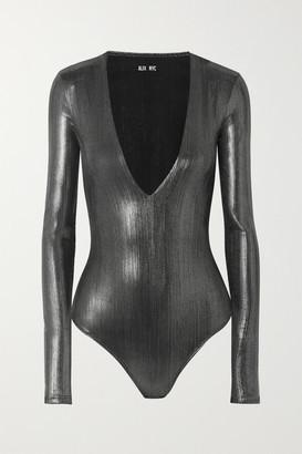 Alix Stretch-lame Bodysuit - Silver