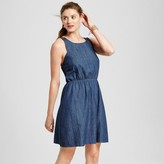 Merona Women's Denim Apron Dress Dark Indigo