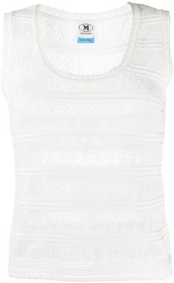 M Missoni tiered lace top