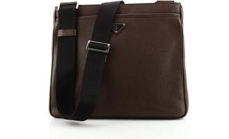 Prada Front Pocket Zip Messenger Bag Vitello Daino Large