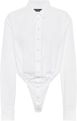 Y/Project Cotton-poplin bodysuit