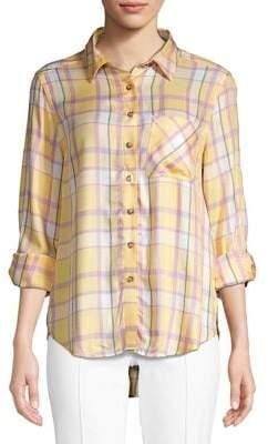 C&C California High-Low Plaid Shirt