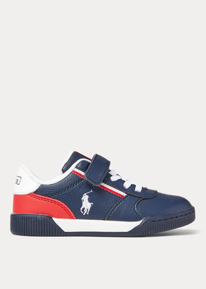 Ralph Lauren Keelin Faux-Leather Sneaker