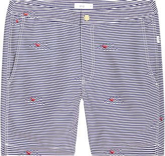 Onia Calder Stripe Swim Trunks