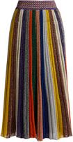 Missoni Pleated striped wool-blend midi skirt