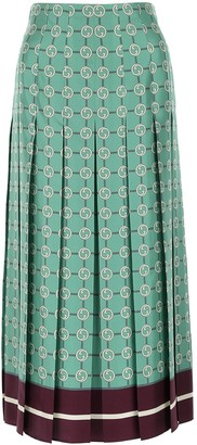 Gucci GG Pleated Skirt