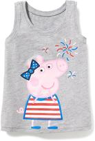 Old Navy Nick Jr. Peppa Pig July 4th Graphic Tank for Toddler Girls