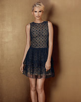 RED Valentino Embroidered Tiered-Skirt Dress