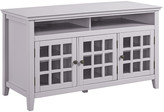 Linon Leslie Gray Media Cabinet