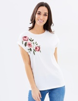 Dorothy Perkins Embroidered Shoulder Tee