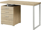 Monarch Natural Reclaimed-Look Left Or Right Facing Desk