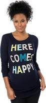 Motherhood Here Comes Happy Maternity Sweater