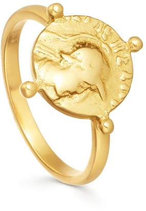 Missoma Lucy Williams Gold Beaded Coin Ring