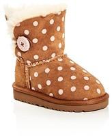UGG Girls' Bailey Button Polka Dot Boots - Walker