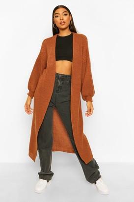 boohoo Tall Oversized Chunky Knit Maxi Cardigan