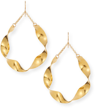 Devon Leigh Twisted Wave Hoop Earrings