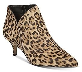 Sam Edelman Women's Kadison Leopard-Print Kitten Heel Booties
