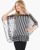 Chico's Striped Woven Print Top