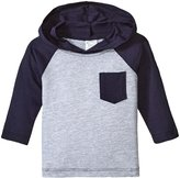City Threads Hooded Raglan w/Pocket (Baby) - Gray/Navy - 18-24 Months