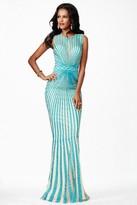Jovani Stunning Sleeveless Jewel Neckline Long Gown JVN26843
