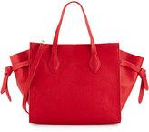 Cynthia Rowley Miranda Leather Tote Bag, Red