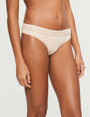 Calvin Klein One stretch-jersey mid-rise thong