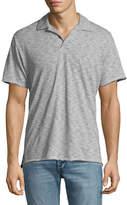 Rag & Bone Men's Owen Striped Cotton-Linen Polo Shirt