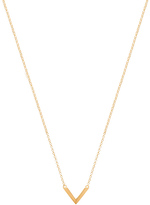 Miansai Mini Angular Necklace in Metallic Gold.