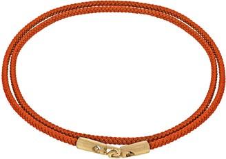 Luis Morais 14ct Yellow Gold Long Cord Wrap Orange Bracelet