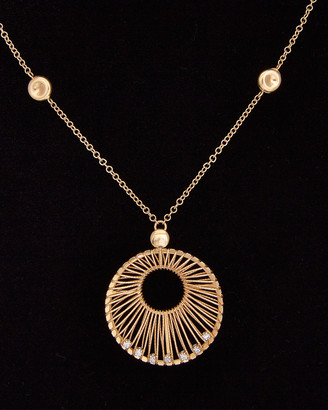 Meshmerise 14K Italian Gold 0.25 Ct. Tw. Diamond Filigree Necklace
