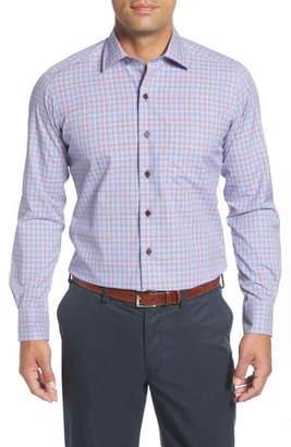 David Donahue Regular Fit Plaid Button-Up Shirt