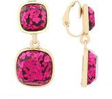Liz Claiborne Pink Clip On Goldtone Earrings